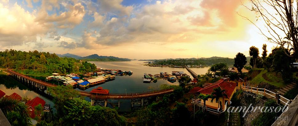 สามประสบรีสอร์ท (Samprasob Resort) ที่พักบรรยากาศดี อำเภอสังขละบุรี จังหวัดกาญจนบุรี
