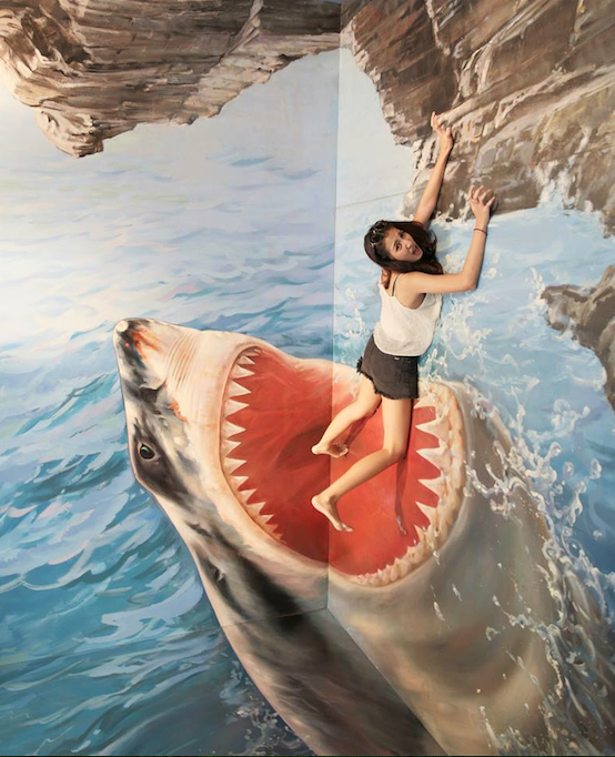 พิพิธภัณฑ์ภาพวาด 3 มิติ (Trick Art Museum - Thailand) ซานโตรินี พาร์ค (ชะอำ) จังหวัดเพชรบุรี