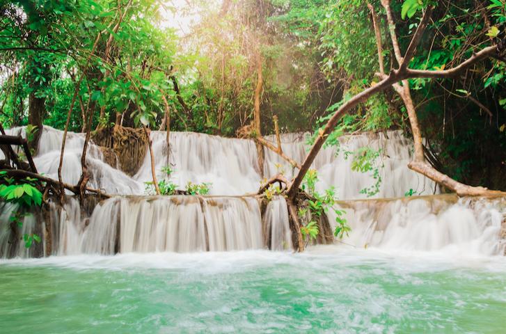 น้ำตกนพพิบูลย์ (Noppiboon Waterfall) จังหวัดกาญจนบุรี