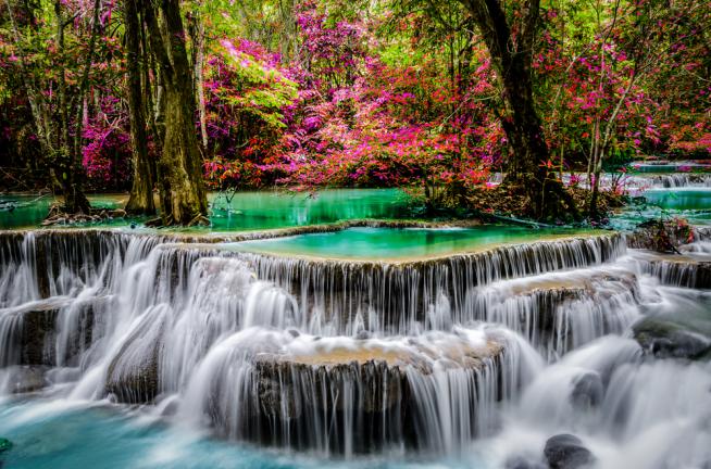 huay-mae-kamin 5 น้ำตกน่าเที่ยวในกาญจนบุรี