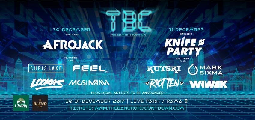 The Bangkok Countdown 30-31 ธันวาคม 2560 ณ Live Park พระราม 9