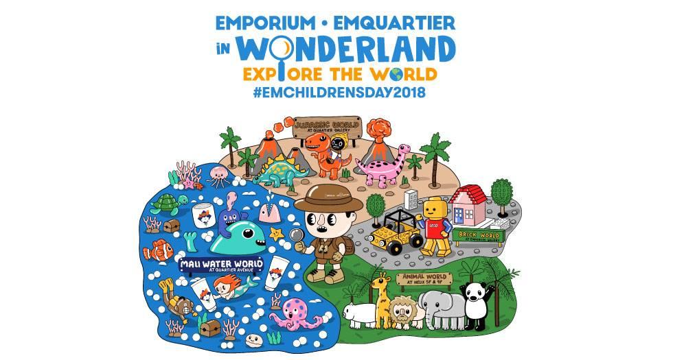 วันเด็ก 2018 Emporium - EmQuartier in Wonderland Explore the World 11 - 14 มกราคม 2561 ณ ศูนย์การค้า ดิ เอ็มโพเรียม และดิ เอ็มควอเทียร์