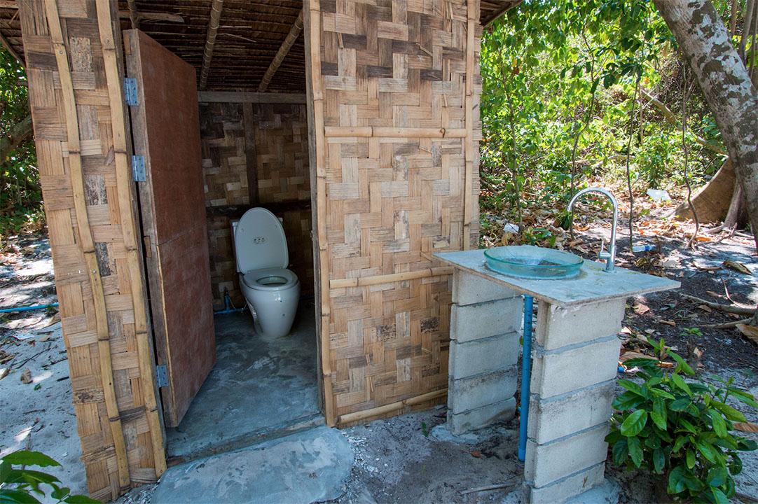 ห้องน้ำบนเกาะบรูเออร์