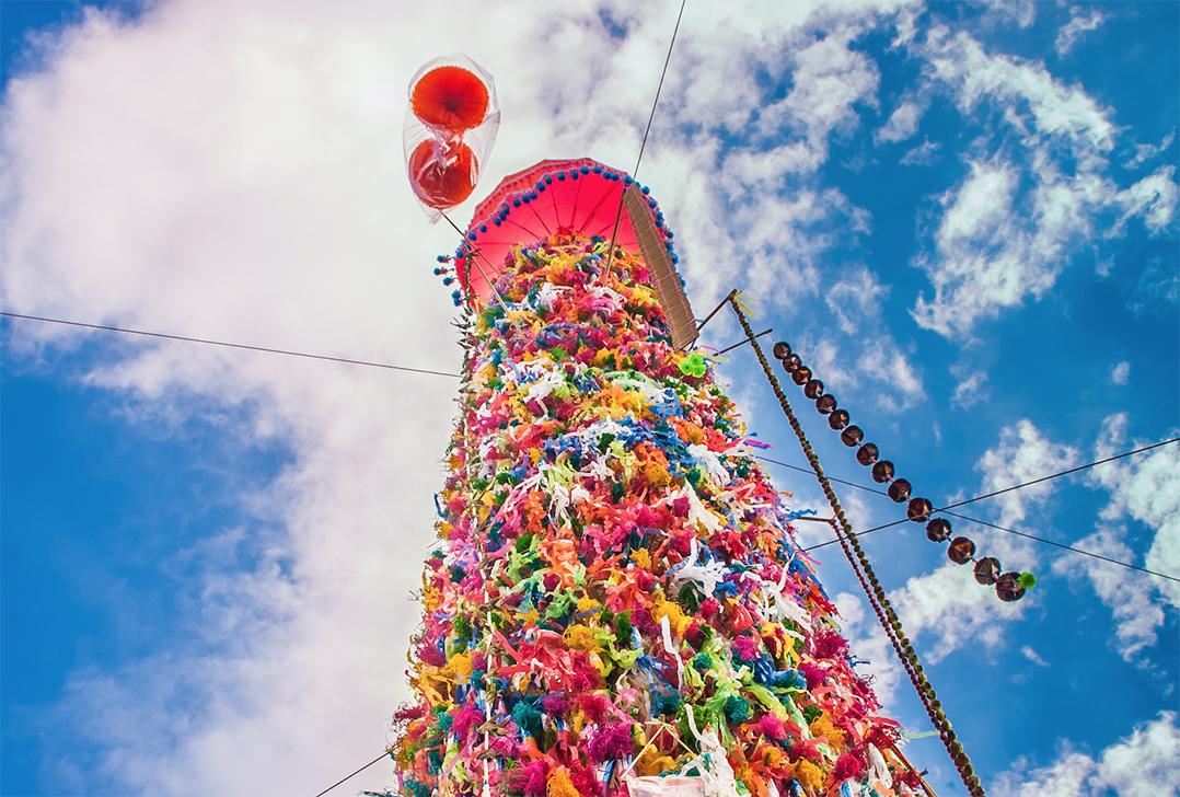 ประเพณีทานสลากภัต สลากย้อม เมืองลำพูน ประจำปี 2561