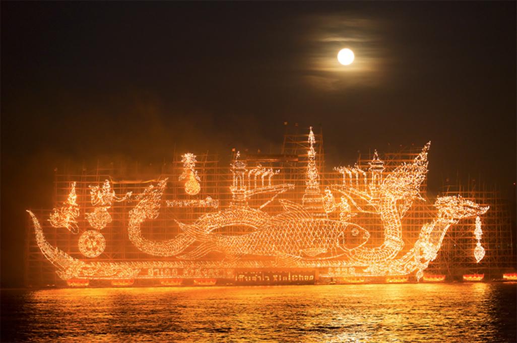 งานประเพณีไหลเรือไฟ จังหวัดนครพนม ประจำปี 2561