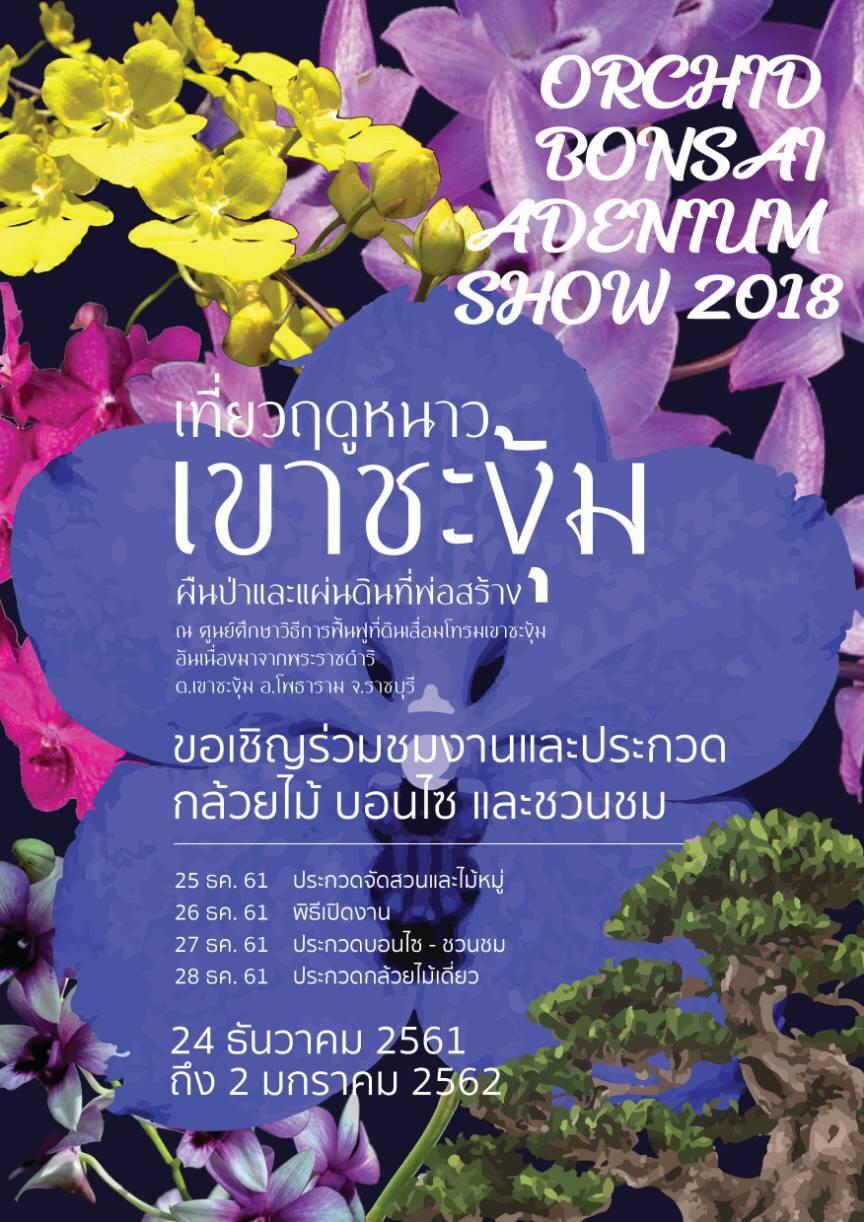 เที่ยวฤดูหนาวเขาชะงุ้ม ผืนป่าและแผ่นดินที่พ่อสร้าง Orchid Bonsai Adenium Show 2018
