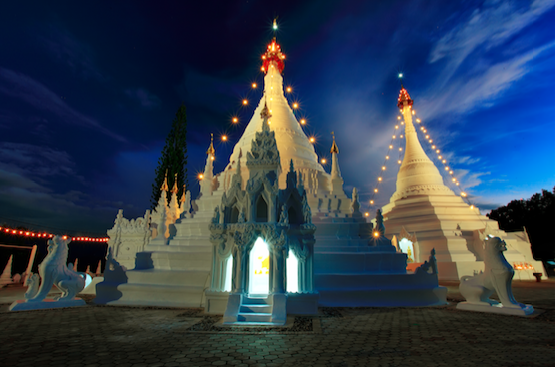 งานนมัสการพระธาตุดอยกองมู (ลอยกระทงสวรรค์) ประจำปี 2562 จังหวัดแม่ฮ่องสอน